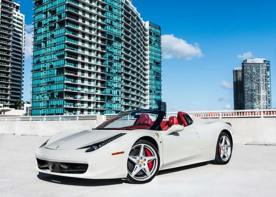 Ferrari 458 Spider rental
