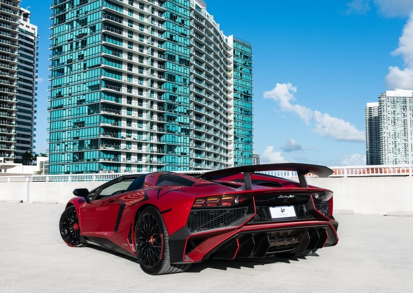 Lambo Aventador Roadster for rent