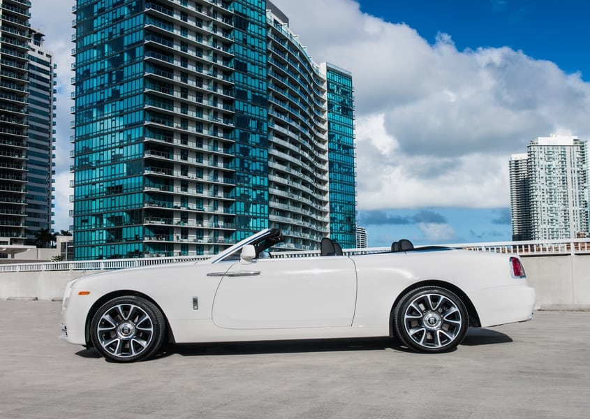 Rent Rolls Royce Dawn cheap